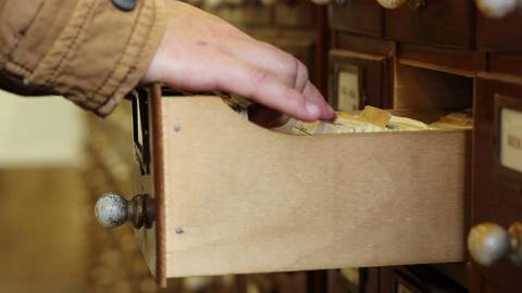 Classical Wooden File Drawer Footage
