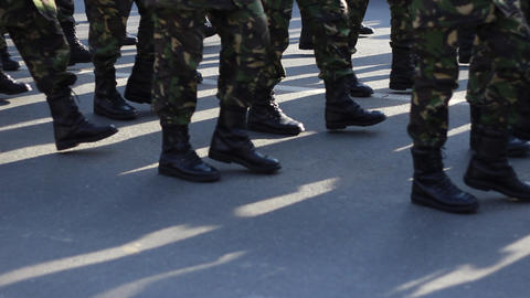 Determined Military Boots March Live Action