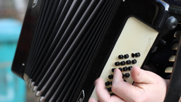 Fingers on Piano Accordion Footage
