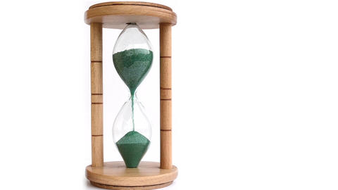 Green Sand Hourglass Time Lapse Footage
