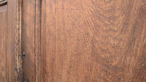Knocking on Wooden Door Footage