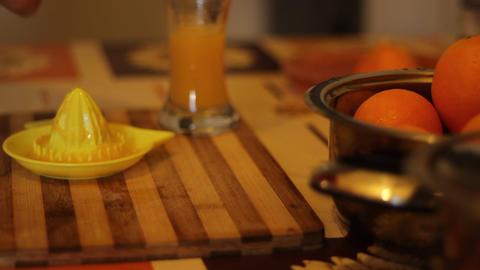 Making Orange Juice Fresh stock footage