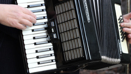 Man Playing Accordion Footage