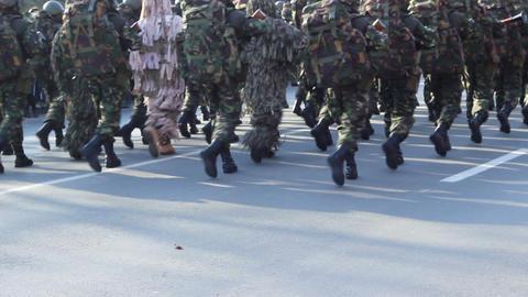 Marines Platoon Marching Footage