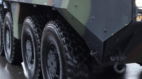 Military Truck Wheels Footage