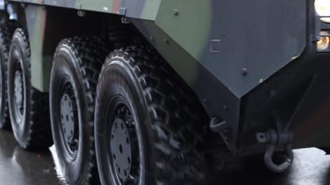 Military Truck Wheels Footage