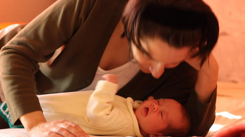 Mother Pamper Her Baby Live Action