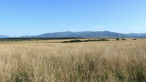 Mountains Profile At Horizon stock footage