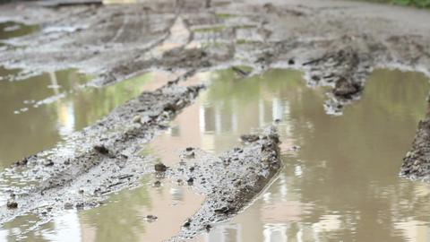 Muddy Road Footage