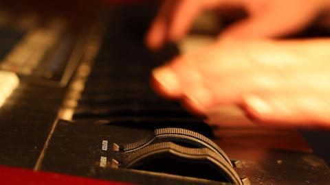 Music Keyboard Modulator Footage