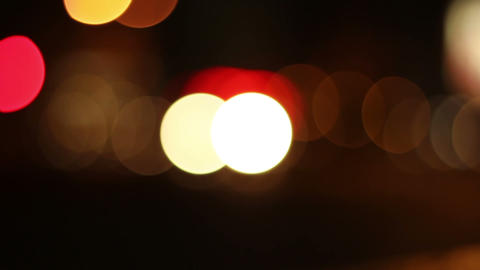 Night Traffic Circles Bokeh stock footage