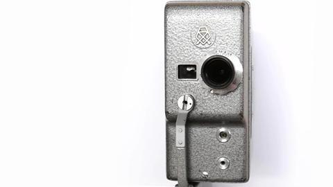 Old Hand Held Reel Film Camera 10 Footage