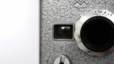 Old Hand Held Reel Film Camera 5 Footage