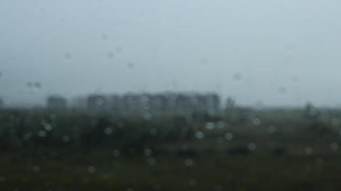 Raining Outdoor Window Footage