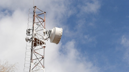 Rusted Telecomunication Antenna Live Action