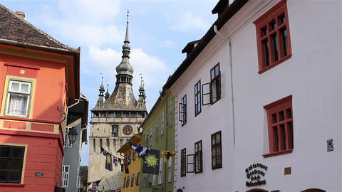 Sighisoara Tower Clock Footage