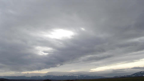Slow Clouds over Mountains Ridge Footage