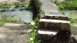 Steps over Footbridge Footage