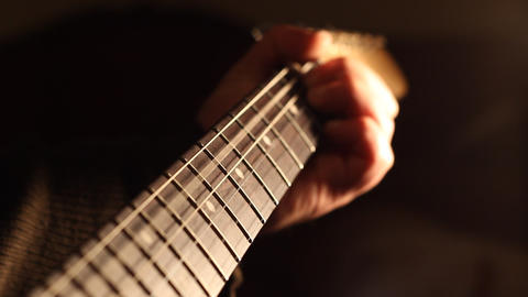 Strings and Neck of Guitar Footage