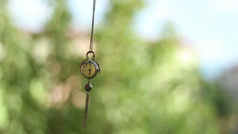 Swinging Hypnotic Clock Pendulum Footage