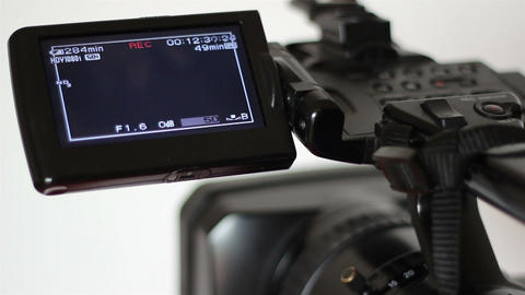 Tape Camera Recording Display stock footage