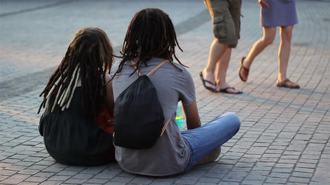 Teenagers Couple with Dreadlocks Live Action