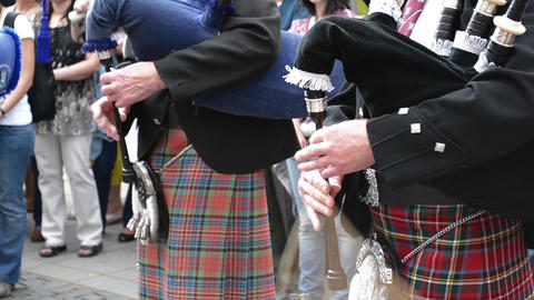 Traditional Scottish Bagpipes Singing Footage
