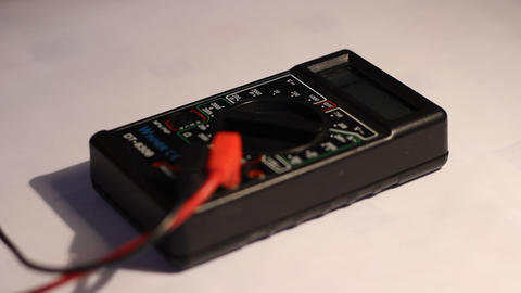 Using Electricity Multimeter Footage