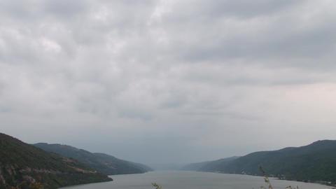 Vertical Pan on Big River Footage