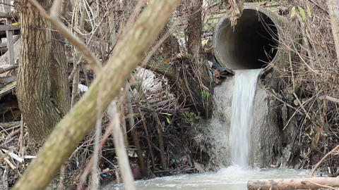 Waste Water Canal stock footage