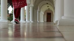 White Piling Corridor Footage
