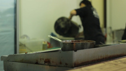 Working In Kitchen Footage