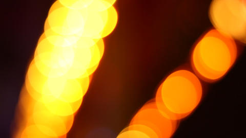 Yellow Transitory Spots Bokeh Footage