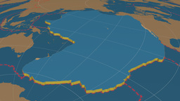 Pacific tectonic plate. Solids Animation