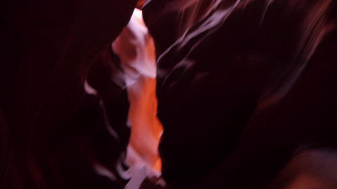 CLOSE UP: Looking Up The Walls Of Antelope Canyon stock footage