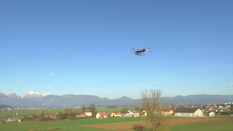AERIAL: Hexacopter flying and filming the nature Footage