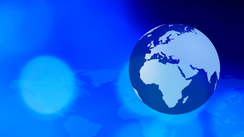 Rotating Earth Social Media Blue Background stock footage