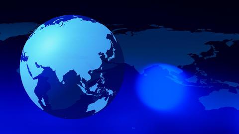 Intro world map concept background Animation