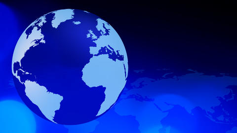 Globe blue business background Animation