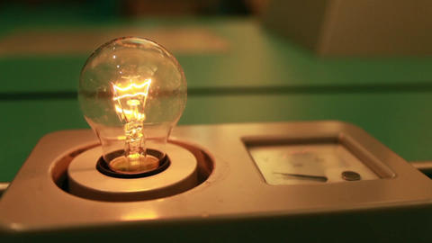 Incandescent light bulb flashes Footage