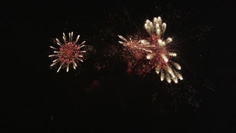 SLOW MOTION: Huge fireworks Footage