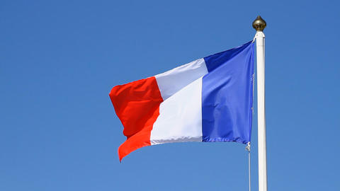 Flag of France Footage