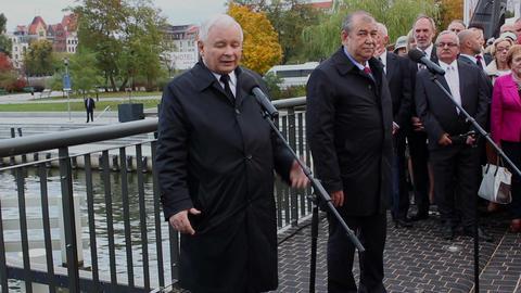 Jaroslaw Kaczynski during campaign in Elblag, Pola Live Action
