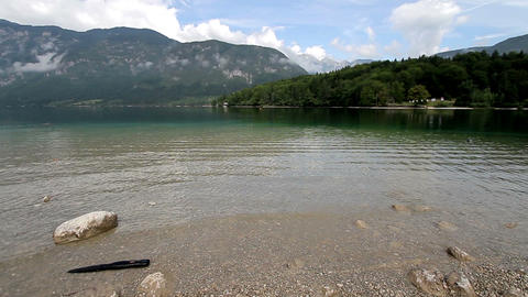 Bohinj Lake and Julian Alpes Footage