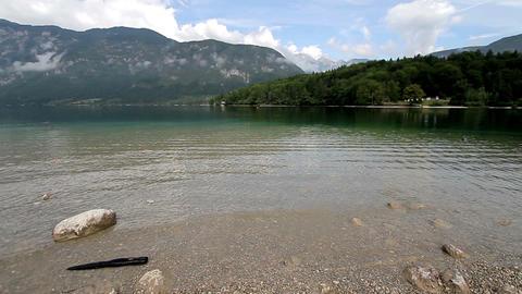 Bohinj Lake And Julian Alpes stock footage