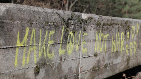 Graffiti On Bobsled Track stock footage
