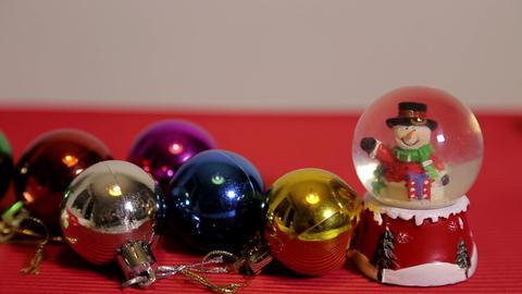 Light balls and Snowman Footage