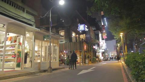 Low Angle Pan - Trendy Fashion District Taipei stock footage