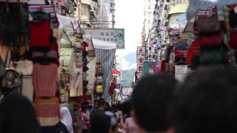 People walking in Fa Yuen Street Market at Hong Kong, China Footage