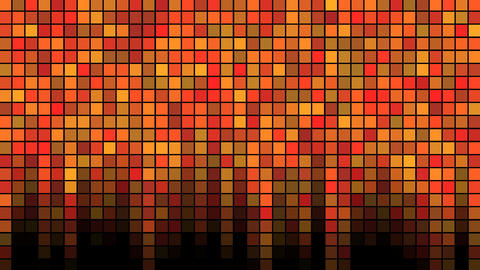 Blinking Tiles Background - Loop Orange Animation